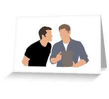 M and J Vector Greeting Card