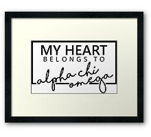 My Hearth AXO Framed Print