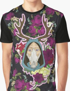 Mother Nature, Floral Print. Graphic T-Shirt