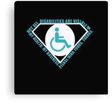 Handicap Superhero Canvas Print