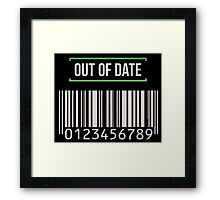 Out of date - barcode Framed Print