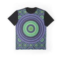 Back to 70's, blue & green Graphic T-Shirt