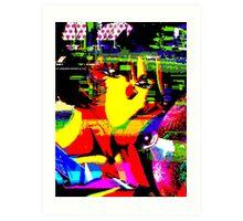 GlitchGirl Art Print