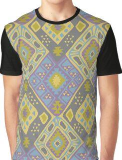 Aztec Tribal Pattern - Purple/Lime Graphic T-Shirt