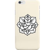 Ganesh Ganesa Ganapati 2 (black white) iPhone Case/Skin