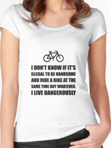 Handsome Ride Bike Women's Fitted Scoop T-Shirt