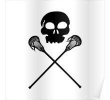 Lacrosse Skull Crossed Sticks Poster
