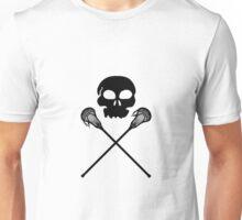 Lacrosse Skull Crossed Sticks Unisex T-Shirt