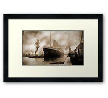 Titanic the Ship of Dreams Framed Print
