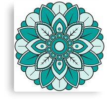 Cyan Mandala Canvas Print