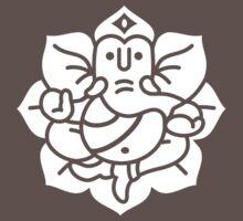 Ganesh Ganesa Ganapati 2 (white) One Piece - Short Sleeve
