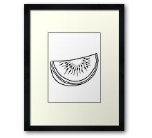 melon piece slice watermelon eating delicious Framed Print