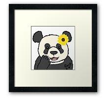 Sunflower Panda Framed Print