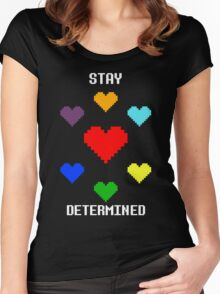 Stay Determined! Women's Fitted Scoop T-Shirt