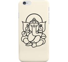 Ganesh Ganesa Ganapati 3 (black) iPhone Case/Skin