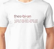 Thesbian Definition Unisex T-Shirt