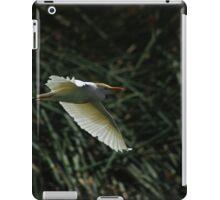 White Cattle Egret Flying iPad Case/Skin