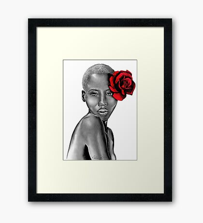 Uzuri | Red Framed Print