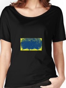 BLEEDING BLUE ON YELLOW Women's Relaxed Fit T-Shirt