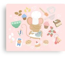 Baker Mouse - Pink Metal Print