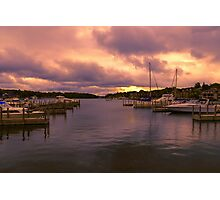 """Dawn at Charlevoix Marina"" Photographic Print"