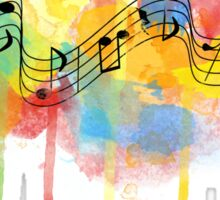 Watercolor Melody Sticker