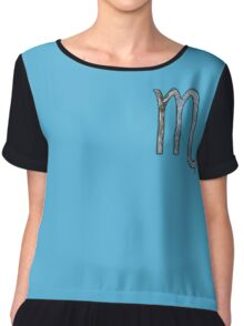 Scorpio Zodiac Symbol Element Chiffon Top