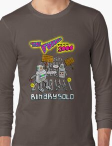 Flight of the Conchords - Binary Solo - Robots 2 Long Sleeve T-Shirt