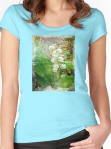 Lily of the Valley - In White #1 Women's Fitted Scoop T-Shirt