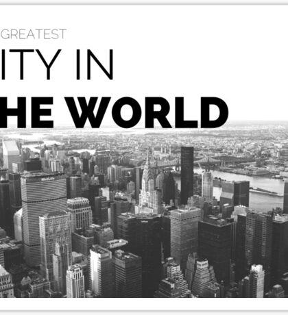 Great City in the World Skyline Art Sticker