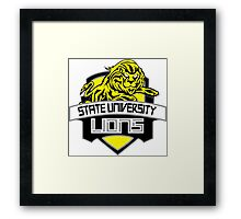STATE UNIVERSITY LIONS Framed Print