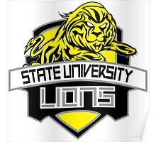 STATE UNIVERSITY LIONS Poster