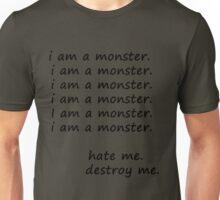 """Frank Iero's """"I am a monster"""" Unisex T-Shirt"""