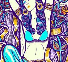 Mexican American Goddess Chicano LA Girl Color Sticker