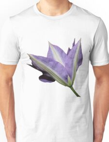 Purple Clematis Flower Unisex T-Shirt