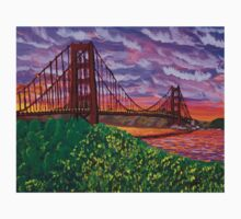 Golden Gate Bridge at Sunset One Piece - Short Sleeve