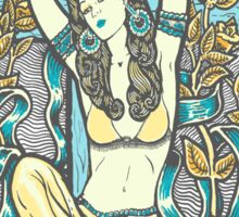Mexican American Goddess Chicano Vintage LA Pinup Sticker