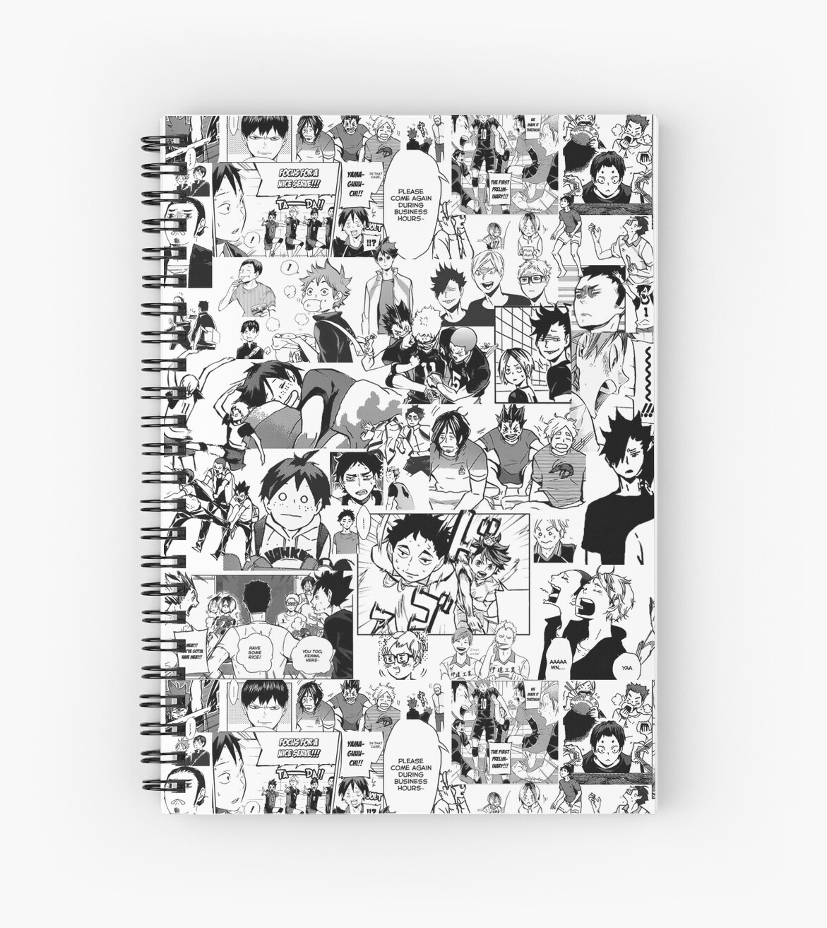 "Manga Samurai Spiral Notebooks By Jiggymiggy: Manga Collage"" Spiral Notebooks By Sylnae"