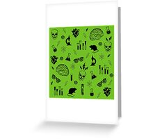 Weird Science in Green Greeting Card