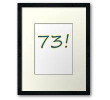73 Wins! Framed Print