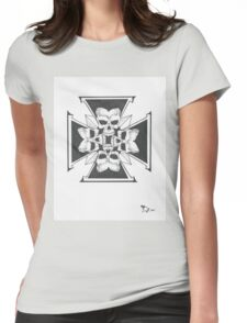 Ironcross of skulls Womens Fitted T-Shirt