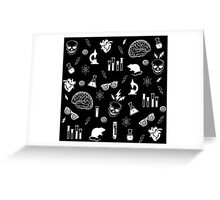 Weird Science in Black Greeting Card