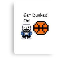 Sans Dunked Canvas Print