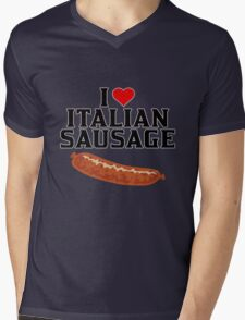 Italian Food, I love Italian Sausage Merchandise, Italy Mens V-Neck T-Shirt