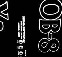 Black ObieWan Graphic Sticker