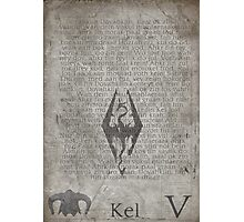 Skyrim Song of Dragonborn Scroll Photographic Print