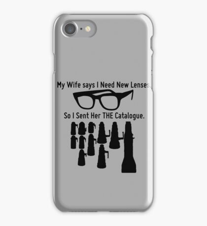 Getting New Lenses iPhone Case/Skin