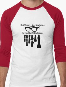 Getting New Lenses Men's Baseball ¾ T-Shirt