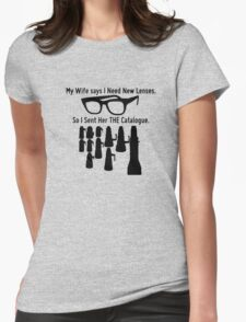 Getting New Lenses Womens Fitted T-Shirt