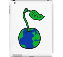 cherry earth planet water continents funny iPad Case/Skin
